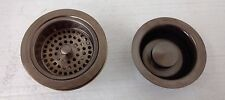 Kohler K-8799-BV Manual Sink Strainer/Disposal Flange w/Stopper Brushed Bronze