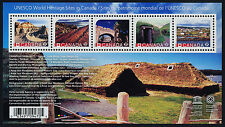 Canada 2963 MNH - UNESCO World Heritage Sites, Architecture, Geology