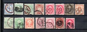 Japan 1860/90 old collection of 15 stamps used