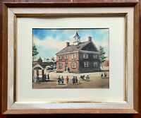 Watercolor by Ernest B Walden aka Davis Gray York Co. Provincial Courthouse, PA