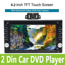 "6.2"" HD 2 DIN In Dash Car Stereo DVD Player Bluetooth with Camera Touchscreen"
