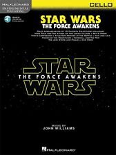 Play-Along Star Wars The Force Awakens Cello Movie MUSIC BOOK & ONLINE AUDIO