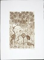 Felicity Rainnie Vintage Etching, The Orchard, Pencil Signed, Limited Edition