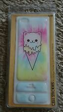 Kawaii cat adorable ice cream cone iphone 5/5s protective sticker case(LAST ONE)