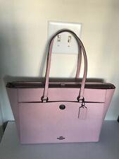 Coach Handbag Pink Aurora Gunmental Crossgrain Folio Tech Tote Bag 78246 New