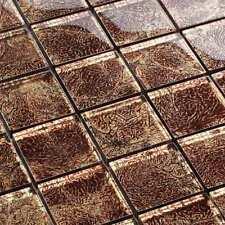 Glasmosaik Fliesen Mosaik Condor Brown Effektglas Braun