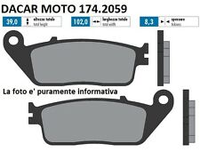 174.2059 PASTILLA DE FRENO ORIGINAL POLINI GENTE KYMCO 250 - gente 300 GTi (BF60