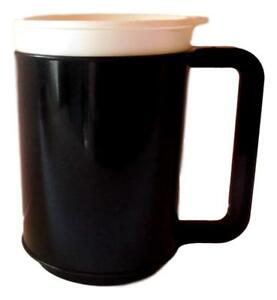 12 Ounce Insulated Coffee Cup-Mug, Choice 3 Colors Red, Blue or Black Made USA