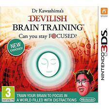 Dr Kawashimas Devilish Brain Training Can You Stay Focused 3ds New/ Track
