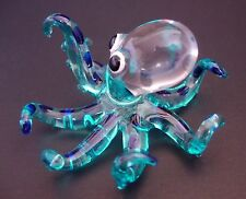 Glass OCTOPUS SQUID Colourfully Painted Ornament Delicate Decorative Curio Gift