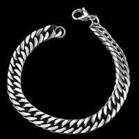 Chic Men's Silver Gold Metal Chain Punk Link Wristband Bracelet Bangle Jewelry