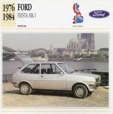 1976-1984 FORD FIESTA Mk.I Classic Car Photograph / Information Maxi Card