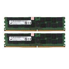 2x For Micron 32GB 4DRx4 PC4-2133P 17000 DDR4 2133Mhz ECC Server Memory RAM @ST