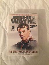 John Wayne 9  feature films on 2 DVD set. Brand New in Case
