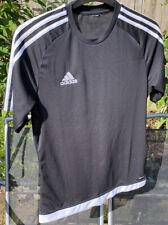 Boys Adidas Estro 15 Top Short Sleeve T Shirt Football Training Size L Black
