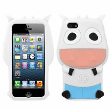 For Apple iPhone 5 5S SE Rubber SILICONE Soft Gel Skin Case Phone Cover White Ox