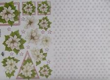 A4 3D Paper Tole with Printed 1/2 Sheet Christmas Flower Poinsettias 2 Pictures