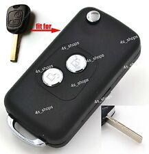 Flip Folding Remote Key Case Upgrade Shell Fob For Peugeot 107 207 307 407 607