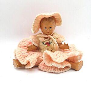 Alte Schildkröt Puppe bespielt ca. 19 cm nur grob gereinigt keine Repro