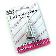 PME ICING NOZZLE Seamless Stainless Steel Piping Writing Tube Cake Decorating