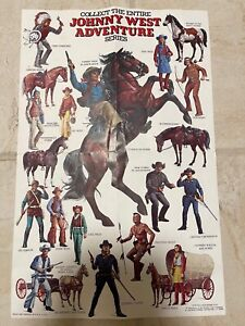 Vintage Collect the Entire Johnny West Adventure Series Sheet '75 Marx-Best/Last