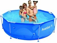 Avenli Stainless Steel Above Ground Swimming Pool with Easy Set-Up (10ft x 30in)