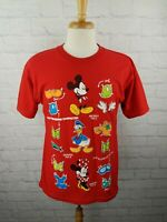 VTG 1990's Mickey Mouse Red T-Shirt Vintage Disney XL USA Minnie Tee 90s