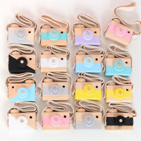 Baby Kids Cute Wooden Camera Toys Accessory Safe And Natural Toys Decor