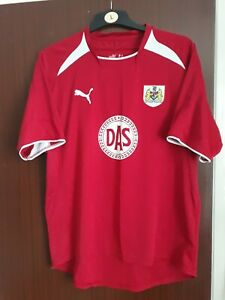 Official Bristol City Red Home Football Shirt 2008-2009 Adult Size L World Post!