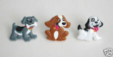 12 Puppy Dog Cup Cake Rings Topper Kid Animal Party Goody Loot Bag Favor Supply