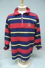 Tommy Hilfiger men's size small multi color striped fleece sweater shirt
