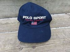 VTG Polo Sport by Ralph Lauren American Flag Hat Cap Strap Back Adult One Size