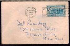 1954-LETTRE.MOUNT VERNON POUR NEW YORK -125 ANS DU RAIL//TIMBRE-USA.Y/T 557