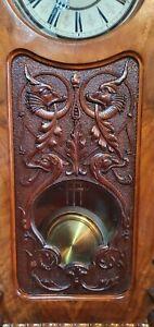 Antique Victorian RSM Reinhold Schneckenburger, Stamped Pendulum Wall Clock