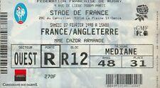 """BILLET MATCH DE RUGBY """"STADE DE FRANCE / FRANCE / ANGLETERRE / 7 FEVRIER 1998"""".."""