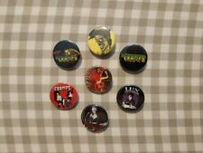 7 x The Cramps band buttons! (badges, pins, 25mm, lux interior, poison ivy)