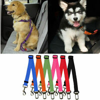 New Adjustable Dog Pet Car Safety Seat Belt Harnessraint Lead Leash