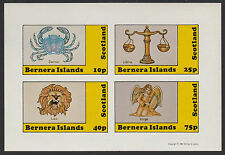 GB Locals - Bernera (1112) 1981 SIGNS OF ZODIAC imperf sheetlet unmounted mint