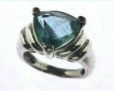 BLUE QUARTS IN A STERLING SILVER RING, SIZE (CUSTOMIZABLE) RSS250
