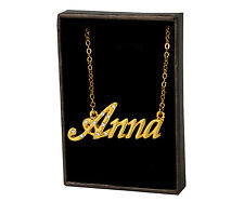 "Name Necklace ""ANNA"" - 18ct Gold Plated - Gifts For Her Christmas Engagement"