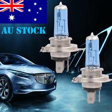1Pair H4 Xenon Car Headlight Globes Halogen Bulbs 6000K 55W 12V White Lights AU
