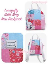 NWT! Loungefly HELLO KITTY PATCHWORK Mini Backpack~Book Bag