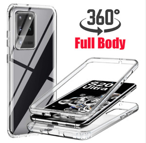 For Samsung Galaxy S21 ULTRA 5G  360 Clear Front + Back Full Case Screen Cover
