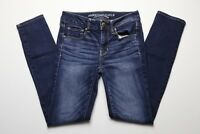 a8cfe65434b American Eagle Womens Blue Jeans Size 2 Regular Skinny Super Stretch Dark  Blue