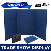 "72"" x 36"" 3 Panel Tabletop Display Presentation Board Tri-Fold Exhibition Booth"