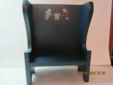 Vintage Doll Chair-Settee-Furniture-Wood-3 Little Girls-Adorable