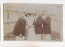 L'Entente Cordiale Party Brighton Sussex Vintage RP Postcard 561b