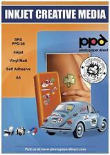 PPD DIN A4 Inkjet Vinylfolie Aufkleberfolie Stickerfolie für Tintenstrahldrucker