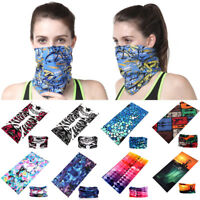 Bandana Face Mask Shield Fishing Headwear Seamless Neck Tube Scarf Skull Head UV