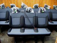VAUXHALL VIVARO RENAULT TRAFFIC PRIMASTAR REAR VAN MINIBUS TRIPLE SEATS NEW